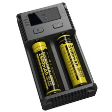 New Arrivals Nitecore i2 charger for 10440 AA AAA 14500 18650 26650 Battery Nitecore Charger EU/US/UK Plug
