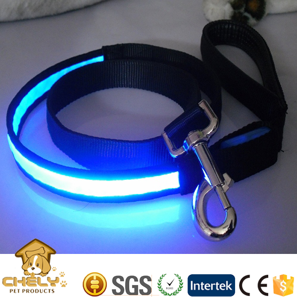 Novelty Dog Product LED Dog Collar Leash Custom Print Logo Pet Collars & Leashes