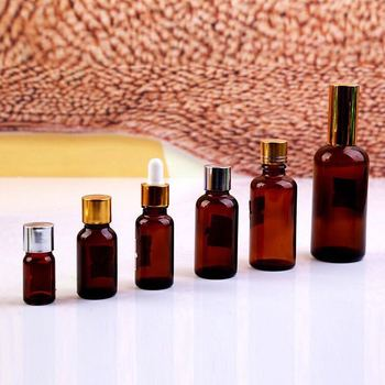 Factory price Hot sale Cosmetic care amber glass bottle for essential oil bottle