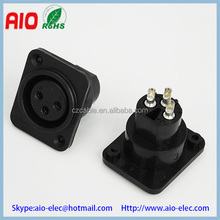 Plastic jacket Fits D Series Pattern Holes Vertical PCB Mount Flange Mount 3 Pole 3 pin XLR Female connector