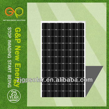 A-grade cell high efficiency 5W-300W mono solar panel