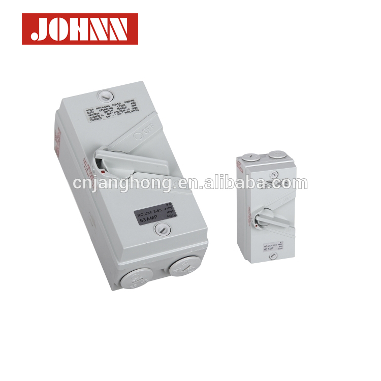 High Quality UKF 1P 20A Weather Protected Isolating Switch