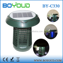 Ultrasonic solar rechargeable fly catcher pest repeller control trap bug zapper repellent equipment mosquito killer lamp