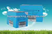 Customized ventilative corrugated carton box for frozen food
