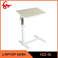 2014 adjustable table on wheel multifunctional wooden folding side table ND-6