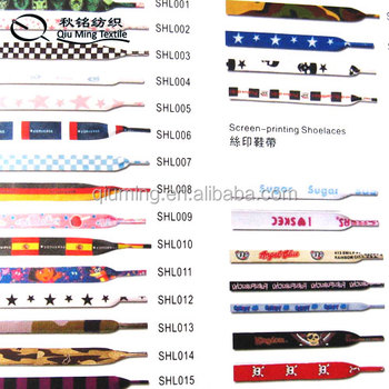 2014 hight quality hot sell custom printed shoelaces