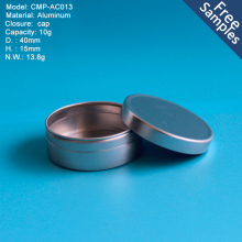 Latest design Aluminum Round Cosmetics Tin Can Wax Tin Box