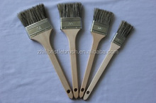 New type soft boiled bristle brush paint brushes with long wooden handle ,