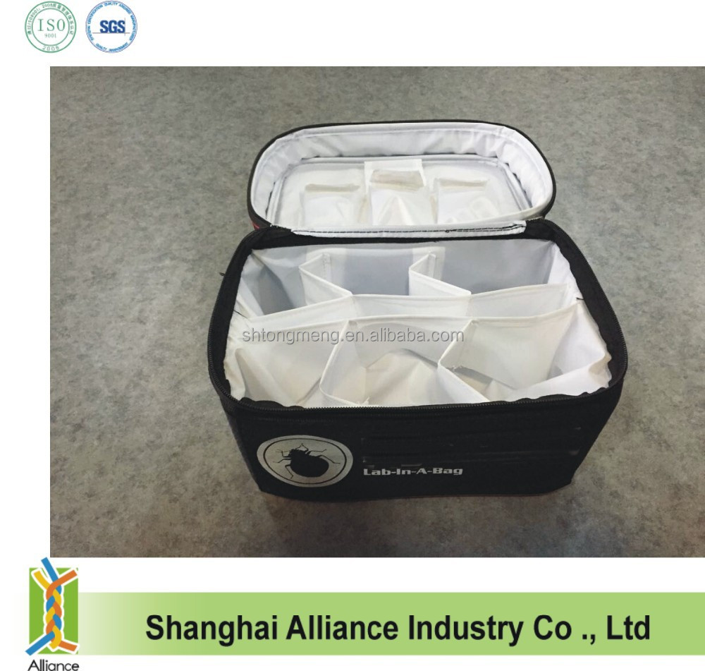 600D Honeycomb Polyester Insulated Cooler Bag with Bottle Can Divider
