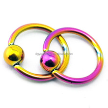 Wholesale Titanium Anodised 16 Gauge Hoop Nose Rings