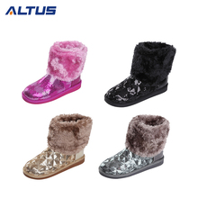 New Arrival Winter faux fur boots women boots 2017,italian winter boots