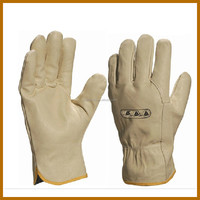 sleepskin cheap leather plastic working glove for adult