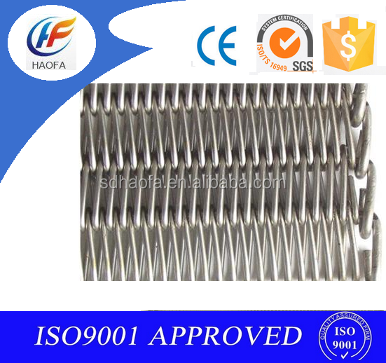 spiral chain linked wire mesh conveyor belt made in china