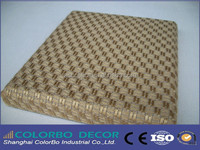 edge hardened acoustic fabric panel board wrapped with fire retardant