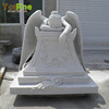 Hand Carved White Marble Grave Angel Headstone