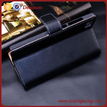 Luxury Fashion Standing Flip View Genuine Leather Cover Case For XIAOMI MI3 M3