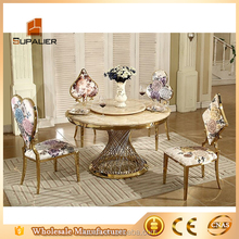 marble dining table party tables and chairs with gold color for sale