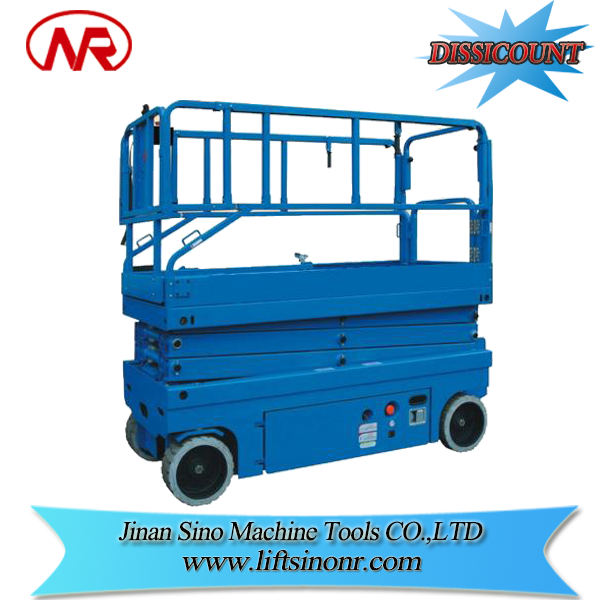 motorized lift table self-propelled lift self-propelled electric scissor lift