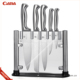 2017 Stocked High Quality Stainless Steel Kitchen Knife Set with Acrylic Stand and color box
