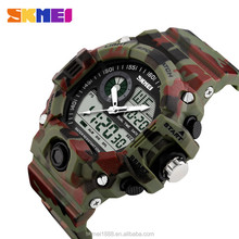 SKMEI 1029 Latest dual time gold watch sport men chrono skeleton clock movement 50 waterproof