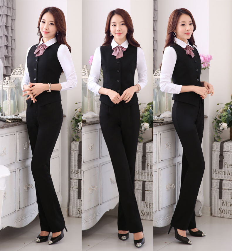 100% Cotton ladies Cultivate one's morality Hotel Manager Uniform