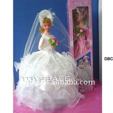 Wind up doll rotating bride dolls with music