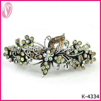 Hot Sale Vintage Metal Butterfly Hair Clips With Pearls