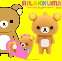Silicone bulk cartoon bear shape usb flash drives wholesales
