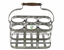 Galvanized Wine Bottle Carrier wholesale