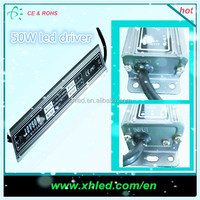 CE ROHS approval 50W led driver waterproof IP67 12v dc input led driver