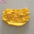 Wholesale ruffled panties pattern toddler ruffle bloomer underwear baby tutu bloomers cotton unisex diaper cover yellow bloomers