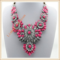 minimun order quantity 2014 Jewellery fashion colorful wholesale statement necklace
