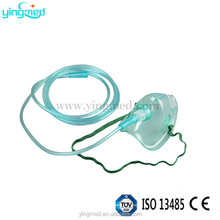 plastic portable oxygen mask with tubing for medical disposable single use