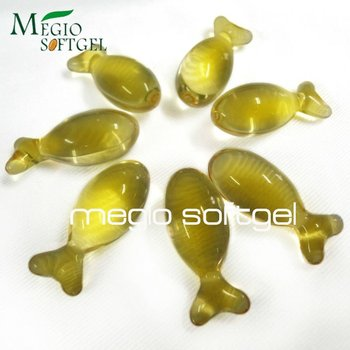 Fish shaped hair conditioner capsule