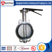 stainless steel wafer type sanitary butterfly valve