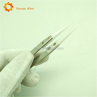 Genuine Lightning Vapes Ceramic Tweezers - Heat Resistant - Pointed