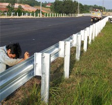 Roadside guardrail