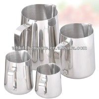 350/600/1000ML 20 Gauge 18/8 stainless steel coffee milk jug