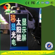 P10 outdoor fixed advertising led display solar powered led signs