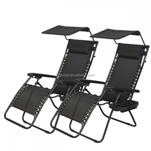 New 2 PCS Zero Gravity beach Chair outdoor Lounge Chairs with canopy