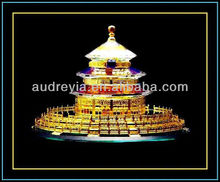 2012 hot sale! golden temple crystal model