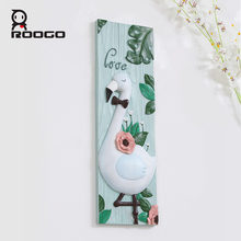 ROOGO new design colored animals design art 3D resin wall hanging