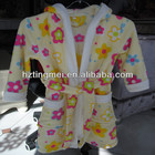 Coral Fleece Children Hooded Bathrobe For winter children bathrobe