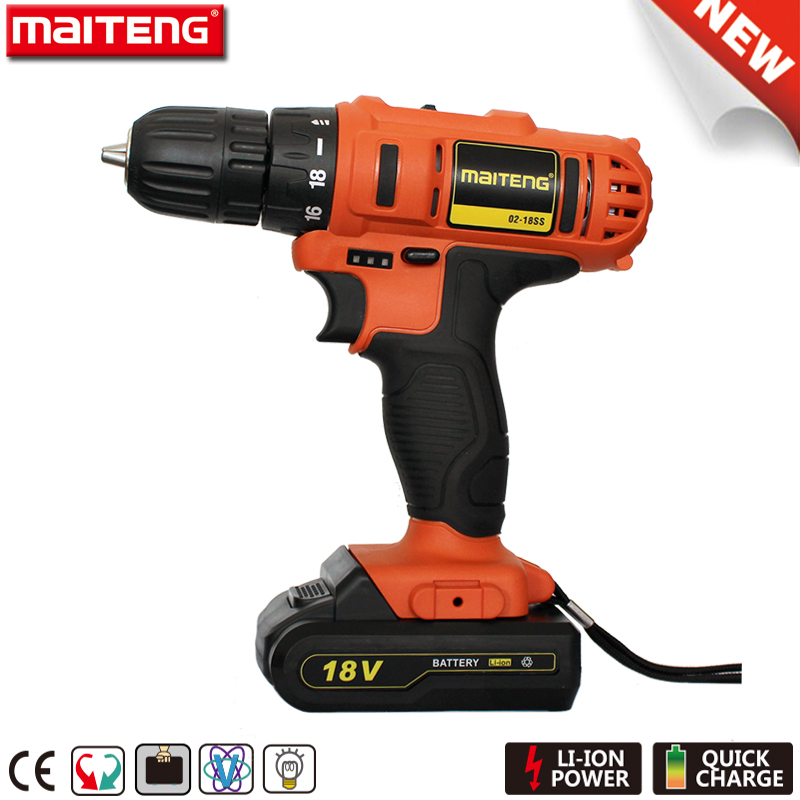 Power Craft 18V Cordless Drill Kit with Rechargable Battery