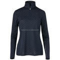 Ladies outdoor sports zipper equestrian apparel quick and dry breathable print top