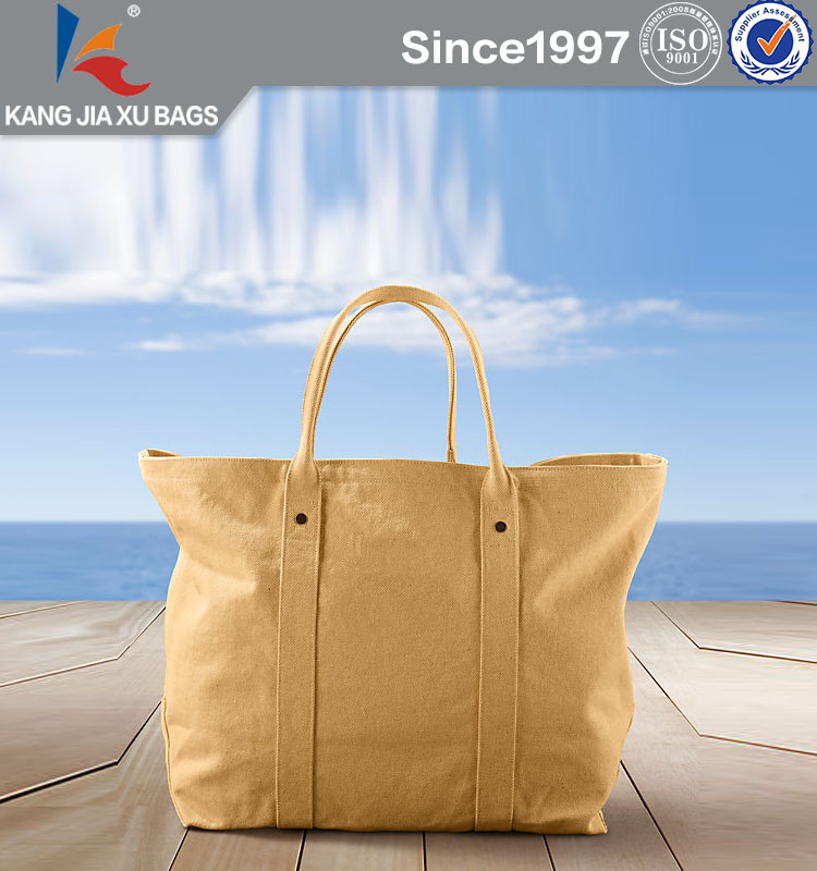Luxury Full Color Print Canvas Beach Bag Durable and Waterproof