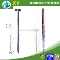Factory supply directly hot dipped galvanized self tapping screw anchor and ground screw post anchor for sale