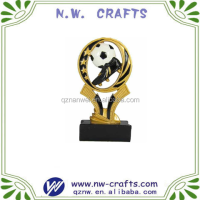 Polyresin gold star soccer ball boots trophy and awards