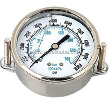 "2.5"" back mounting 304 stainless steel vibration-proof pressure gauge with U-clamp"