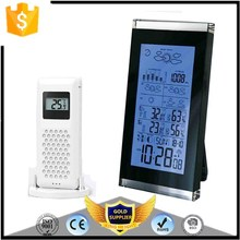 KH-0205 Wireless Weather Station with Digital Alarm Clock Barometer Indoor Outdoor Temperature Humidity 3 Transmitters